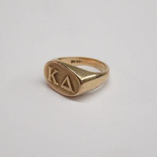 10K Gold Kappa Delta Ring
