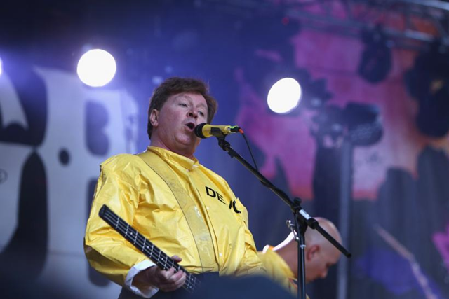 Devo singer and bassist Gerald 'Jerry' Casale, pictured performing at CBGB Music and Film Festival in New York City on 12 October 2014. Photo: Getty Images