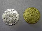 Black Fleet - Space Cowboys - prototype Maar de metalen munten blijven wel!