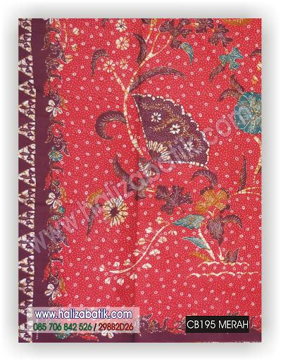 Kain Batik, Model Batik, Contoh Gambar Batik, CB195 MERAH