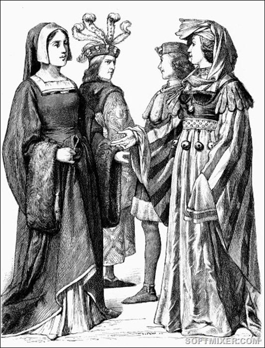 Костюмы Франции 15 века