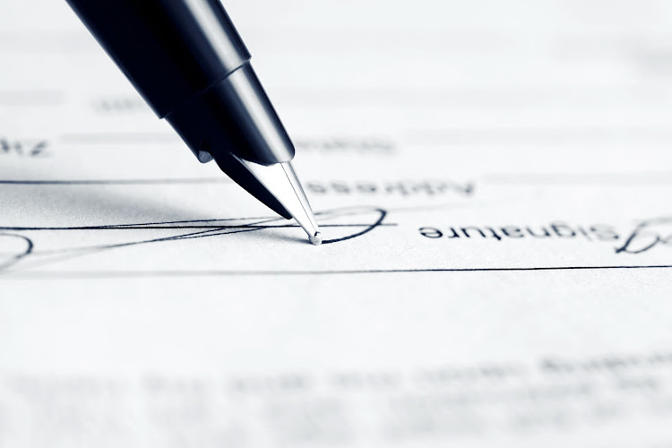 When was the last time you had to sign on the dotted line?