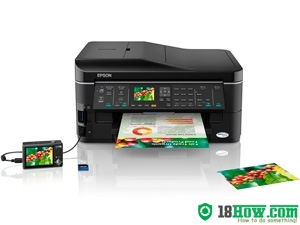 How to reset flashing lights for Epson BX635FWD printer