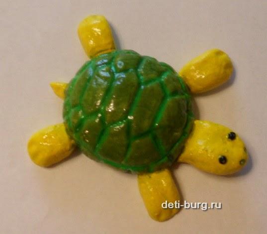 Черепаха из соленого теста