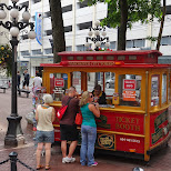Vancouver city tours ticket booth in Vancouver, British Columbia, Canada