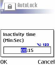 Mengaktifkan fitur kunci tombol otomatis di S60v2