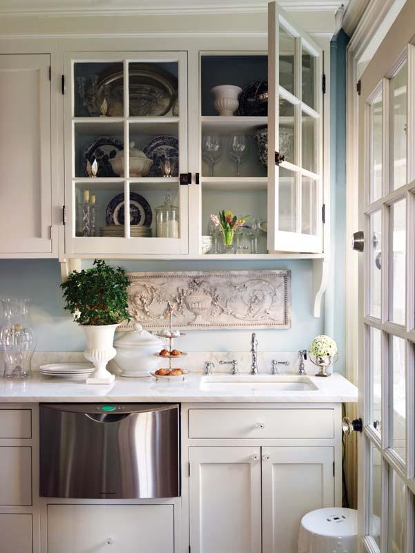 Una cocina en blanco y azul a white and blue kitchen for Deco de cocina azul blanco