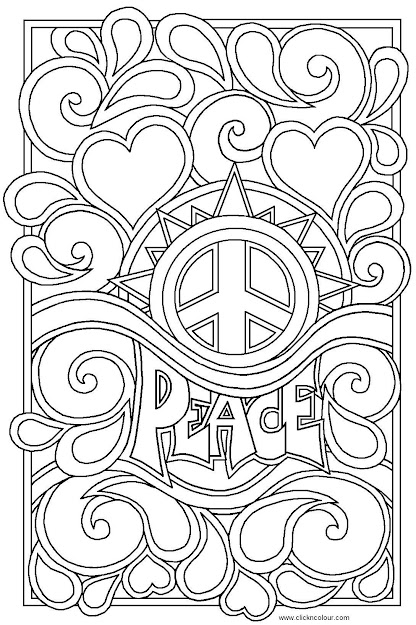 Peace And Love Coloring Pages My Peace Sign Art Coloring Books Throughout Love  Color