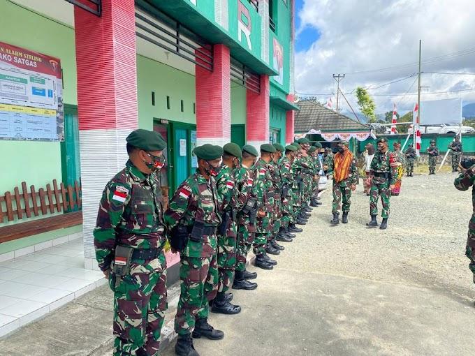 Satgas Pamtas RI-RDTL Sektor Barat Terima Kunjungan dari Kepala Staf Divisi Infanteri 3 Kostrad