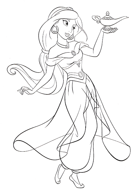 Coloring Pages Jasmine Online Flower Printable Disney With