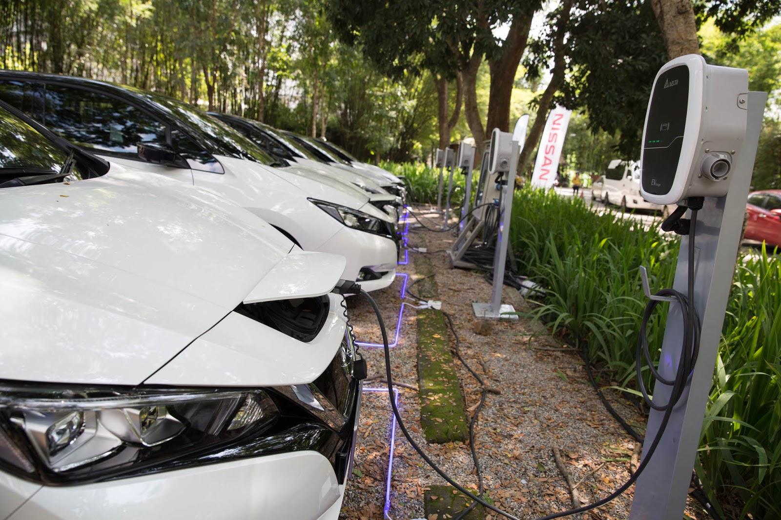โซลูชั่นเครื่องชาร์จรถยนต์ไฟฟ้าจาก Delta มอบพลังขับเคลื่อนอันทรงพลัง Nissan Leaf ในการทดลองขับสู่จุดสูงสุดของประเทศไทย