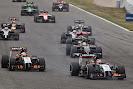 Nico Hulkenberg Force India F1 VJM07 in front