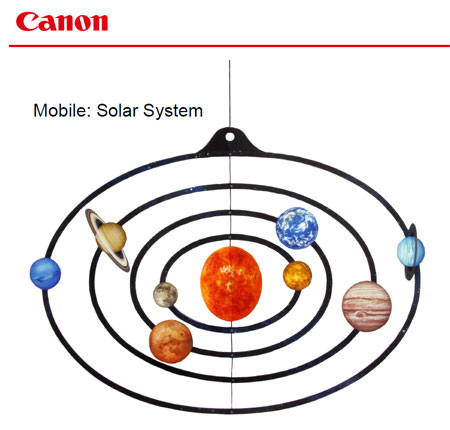 Mobile Solar System Papercraft
