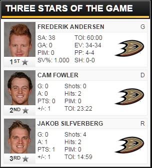 3/18/2016 - Bruins @ Ducks Three Stars