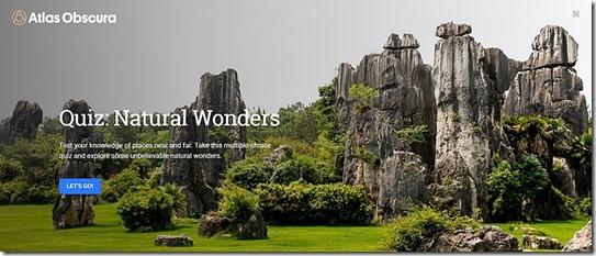 Questionário das Maravilhas Naturais