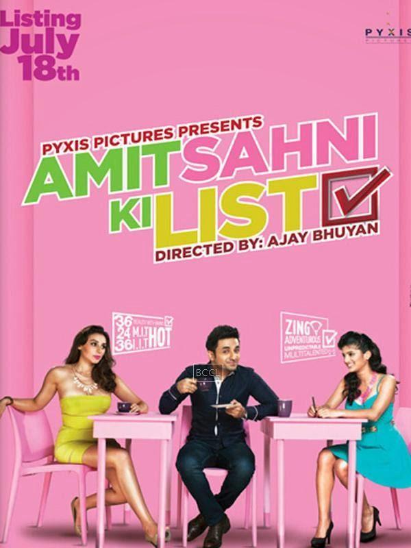 Poster of Bollywood romantic comedy Amit Sahni Ki List starring Vir Das.