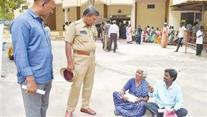 Old Lady Sudden Darna at Vellore Collector's Office