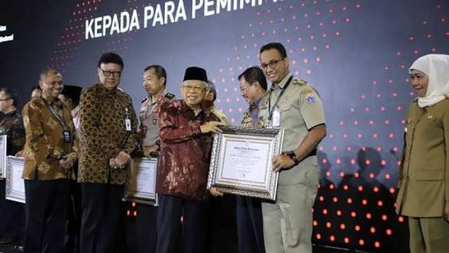 Penghargaan dari Pemerintah Pusat Jadi Bukti Kerja Nyata Anies