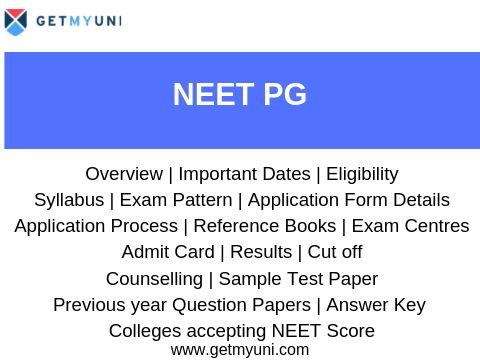 NEET PG - Registration, Dates, Preparation, Cutoff, Admission