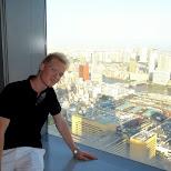 matt at the shiodome lookout in Shinagawa, Tokyo, Japan