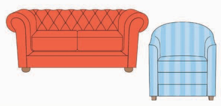 Choose sofas, chairs, tables, and beds