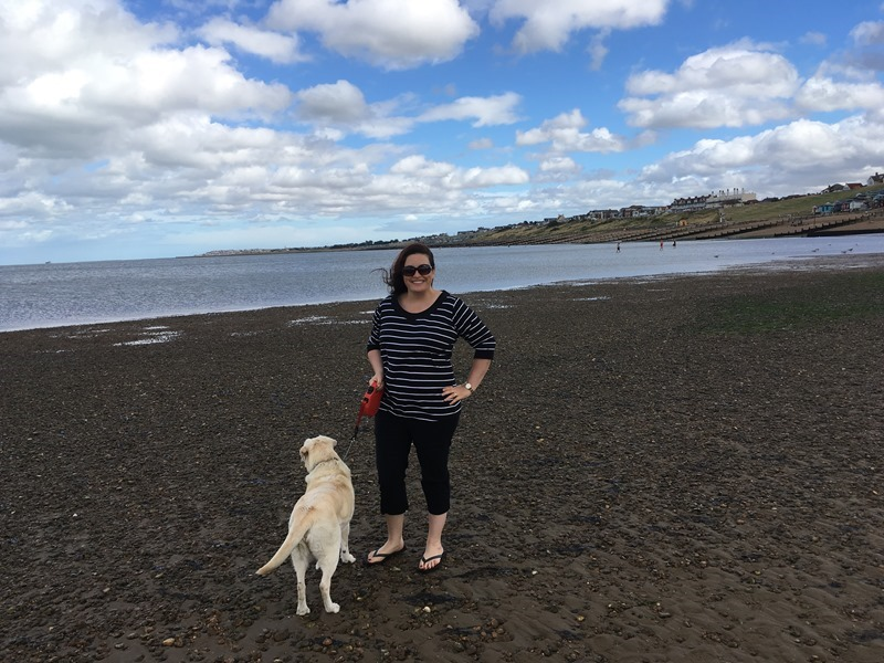 Molly and Mandy on Tankerton Beach