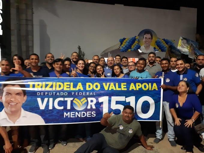 Fred Maia e caravana participam de evento do Victor Mendes em.....
