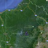 Los Cedros (périmètre mauve) au sud de la Réserve écologique de Cotacachi-Cayapas (Équateur)