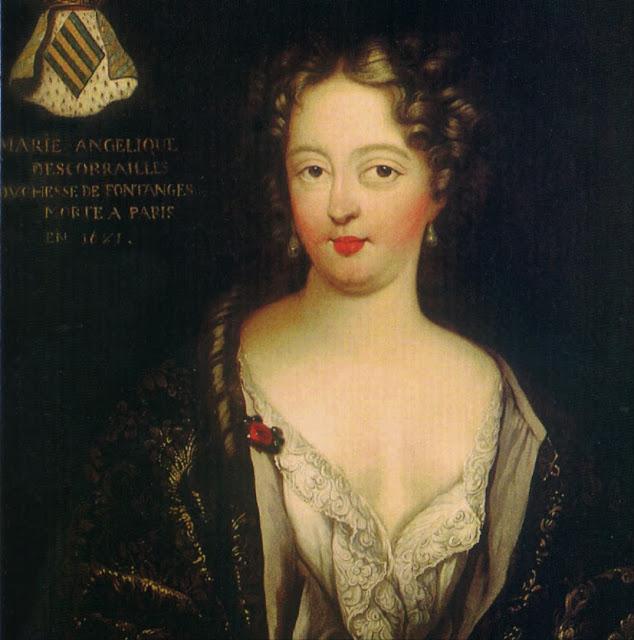 Marie Angélique de Scoraille de Roussille, duchesse de Fontanges (1661-1681),royal mistress