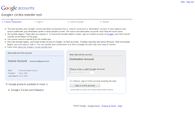 Google Takeout Circles umziehen