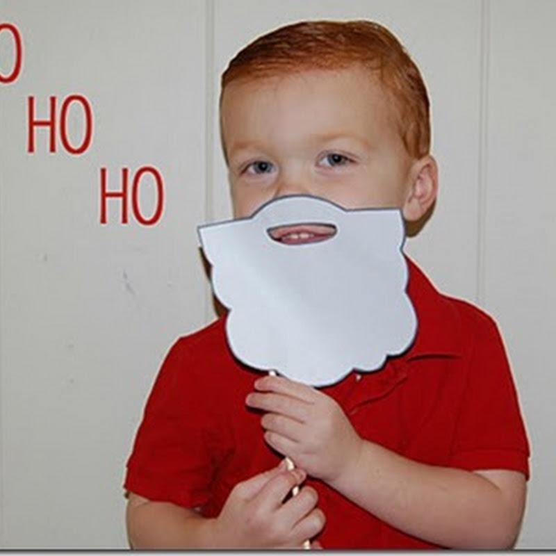 Molde barba de papá Noel para imprimir