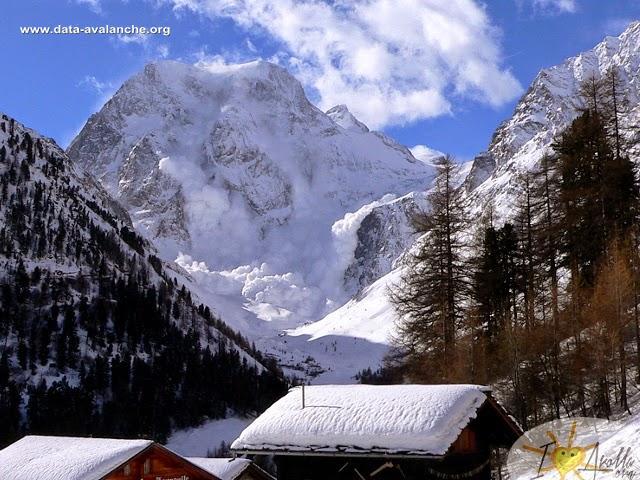 Avalanche Alpes valaisannes, secteur Mont Collon, Versant Nord, Bas Glacier d'Arolla - Photo 1