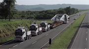 Transporte de mega turbina na BR-135 será iniciado nesta sexta-feira (27)