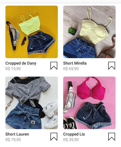 Página de produtos Instagram