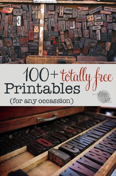 100 totally free printables and project ideas