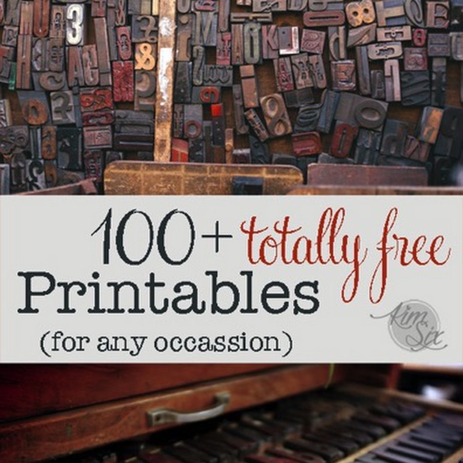 100 Free Printable Project Ideas!