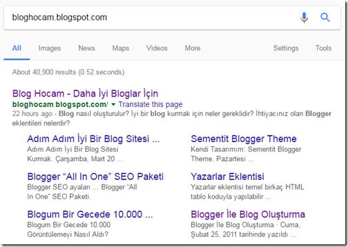 google-site-linkleri