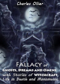 Cover of Charles Ollier's Book Fallacy of Ghosts Dreams and Omens With Stories of Witchcraft Life in death and Monomania
