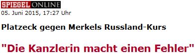 Platzeck: Die Kanzlerin macht einen Fehler