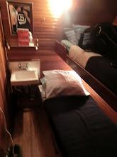 Photo: Back in the schooner, the cabin I slept in.