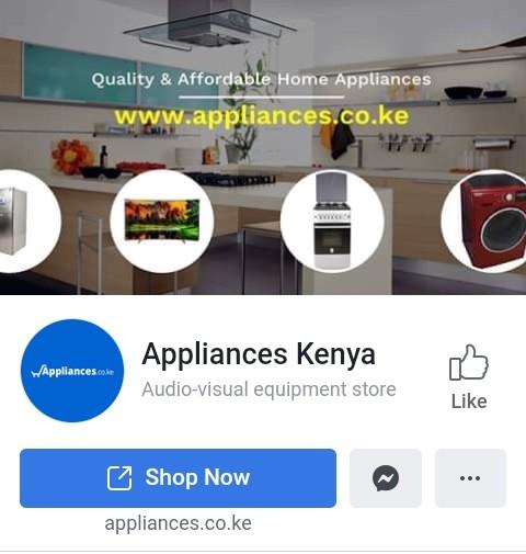 Appliances Kenya Facebook page. PHOTO | BMS