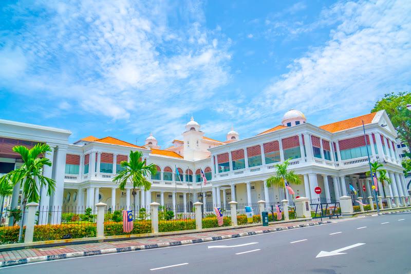 ペナン島 ジョージタウン オレンジ色の屋根の建物