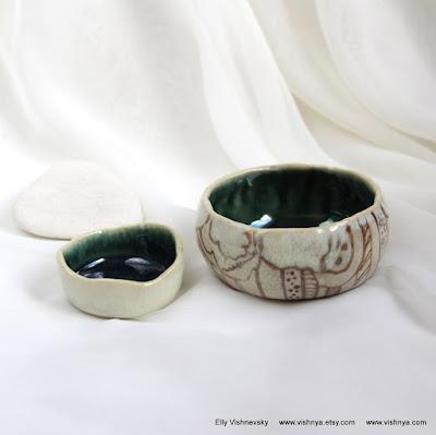 Hand Made Ceramic and pottery Eco-Friendly Home Decor by Elly Vishnevsky. Авторская керамика Элли Вишневской. Фарфор.