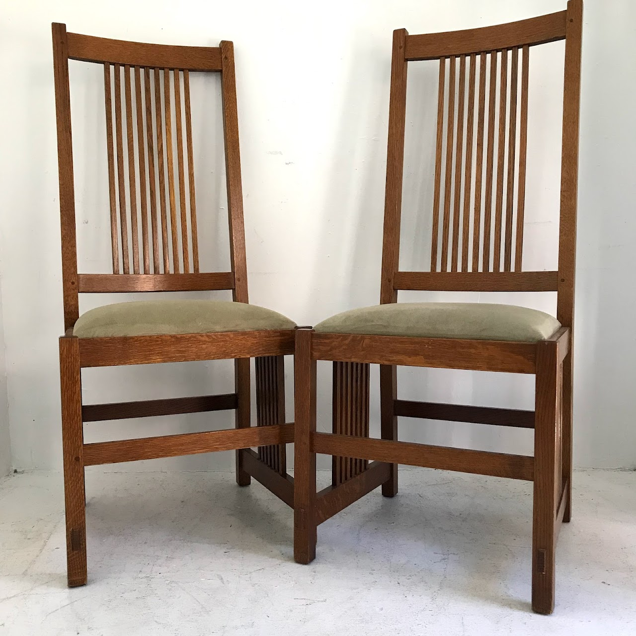 Stickley Furniture Mission Oak Side Chair Pair 2 Shophousingworks