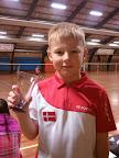 Caspar Møldum vandt 1. præmie i U9B rækken Knabstruphallen d. 24/11-2012