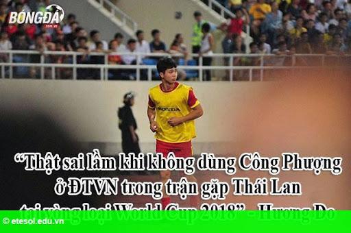 """Hình 1:  Ảnh chế: Tiền đạo ĐT Việt Nam là """"công-công""""? Không thể nào!"""
