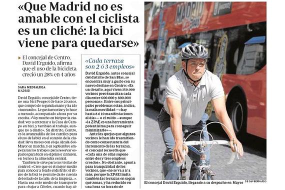 'La bici viene para quedarse' David Erguido, concejal del Ayuntamiento de Madrid