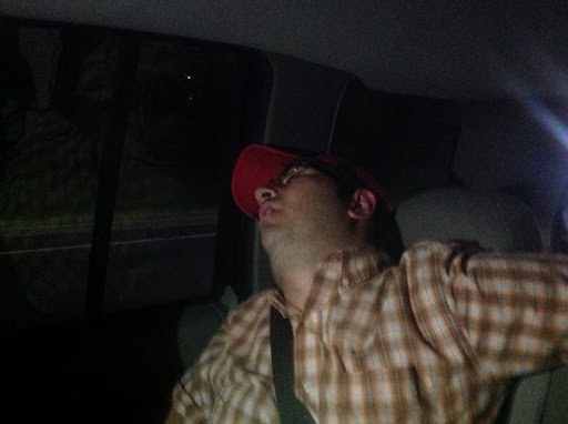 Beach ministry can be tiring. I fell asleep on the way home!
