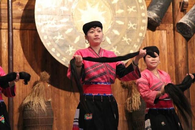 mujeres etnia yao cabello dote