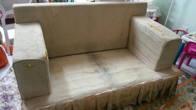 DIY Projek Tukar Sarung Sofa